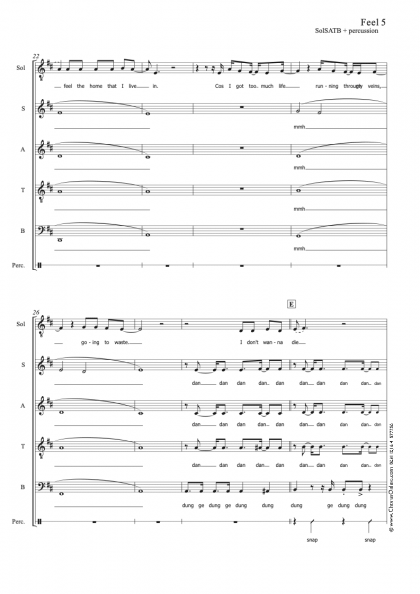 Feel SolSATB 5 part + percussion Draft.musx 3